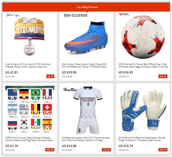 Up to 50% Off at the Football Fan Collection sale on AliExpress - Dubaisavers