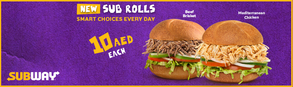 Subway Latest offer - The All New Sub Rolls - Dubaisavers