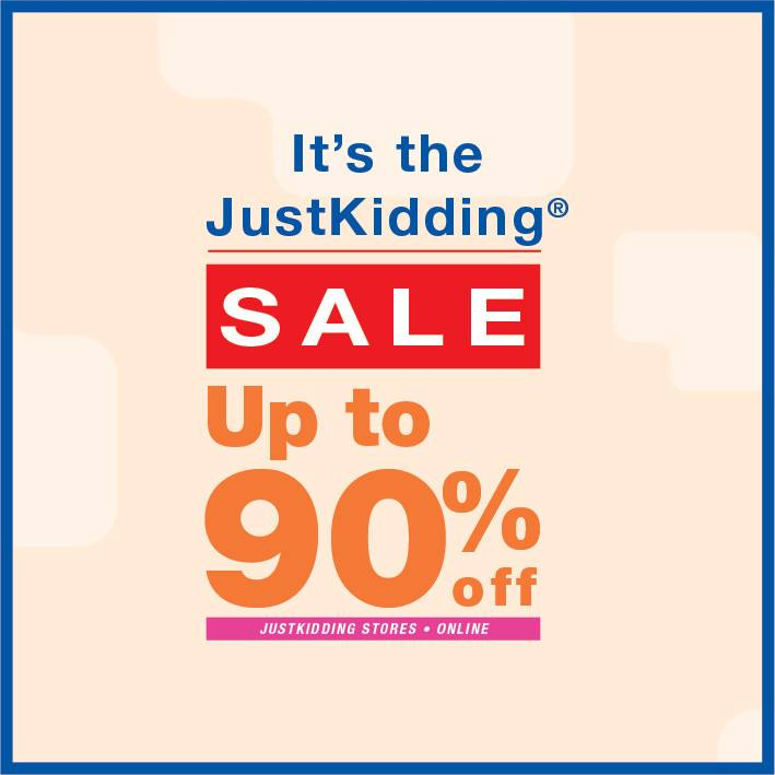 JustKidding Sale offers up to 90% discounts! - Dubaisavers