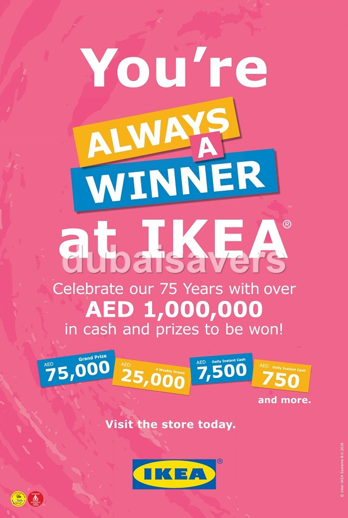 Win up to AED 1,000,000 in cash & prizes at IKEA - Dubaisavers