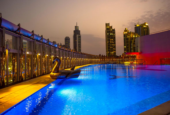 Burj Khalifa relaunches roof top pool party - Dubaisavers