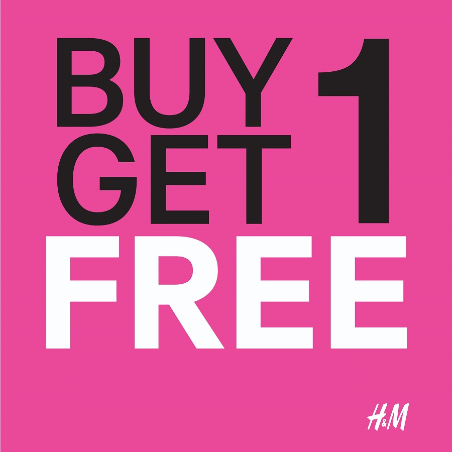 H&M Buy 1 Get 1 Free offer - Dubaisavers