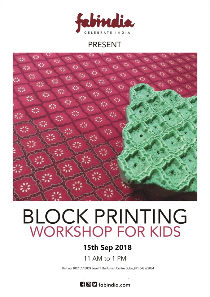 Fabindia presents a block printing workshop for kids - Dubaisavers