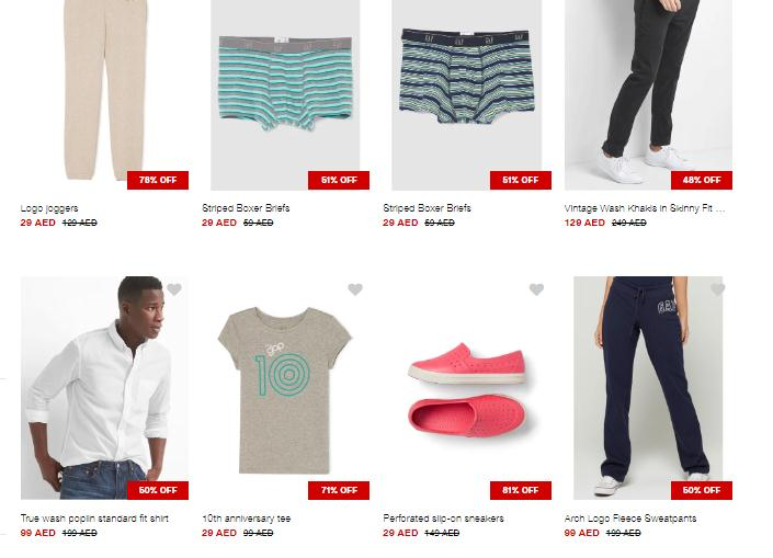 Up to 80% Off at GAP - Dubaisavers