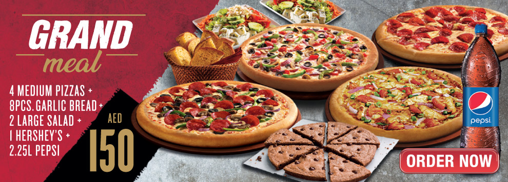 Pizza Hut Latest offers-The Grand Meal - Dubaisavers