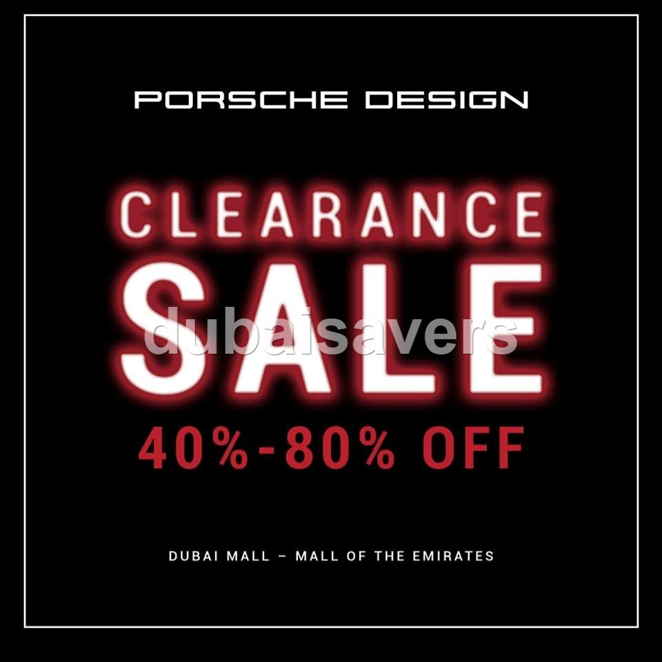 Porsche Design Clearance Sale - Dubaisavers