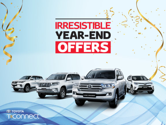 Toyota Irresistible year-end offers - Dubaisavers