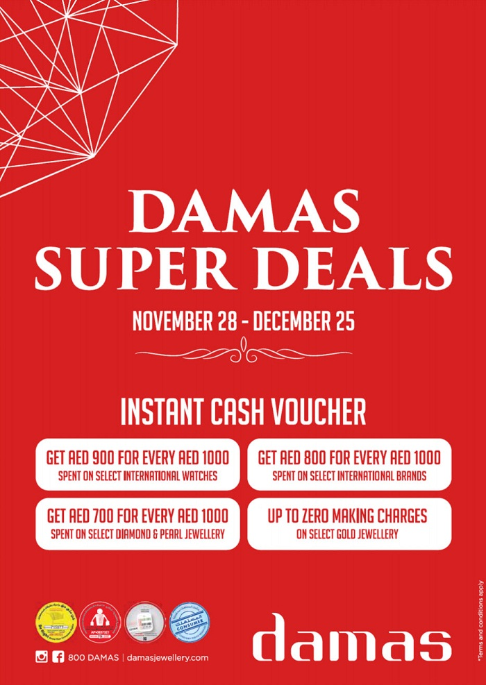 Damas Jewellery Super deals - Dubaisavers