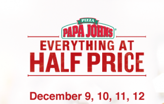 Papa John's Half Price Offer - Dubaisavers