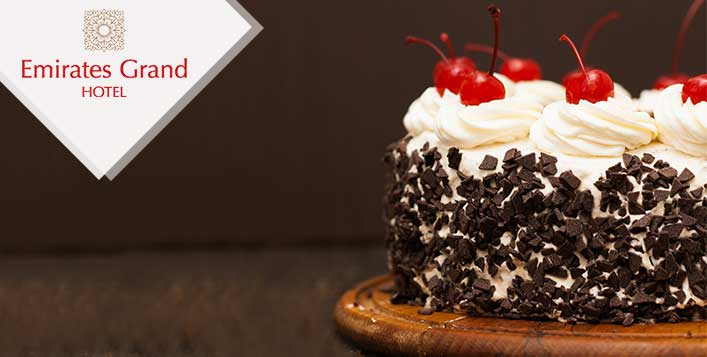 6 Delicious Flavour Cakes Available in 1, 1.5 or 2 KG from Emirates Grand Hotel - Dubaisavers