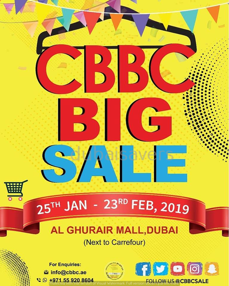 CBBC Big Sale at Al Ghurair Centre - Dubaisavers