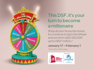 City Centre Mirdif Spin the Wheel Promotion - Dubaisavers