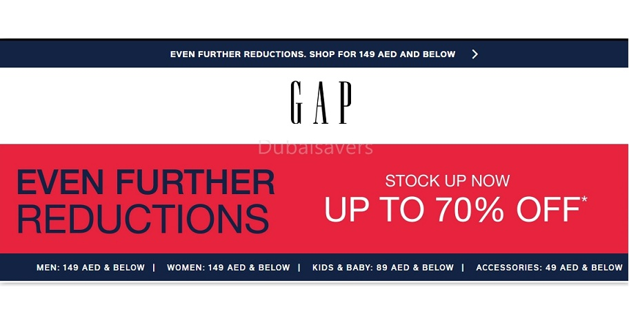GAP Sale with Even Further Reductions! - Dubaisavers