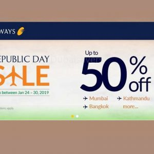 Jet Airways Republic Day sale - Dubaisavers
