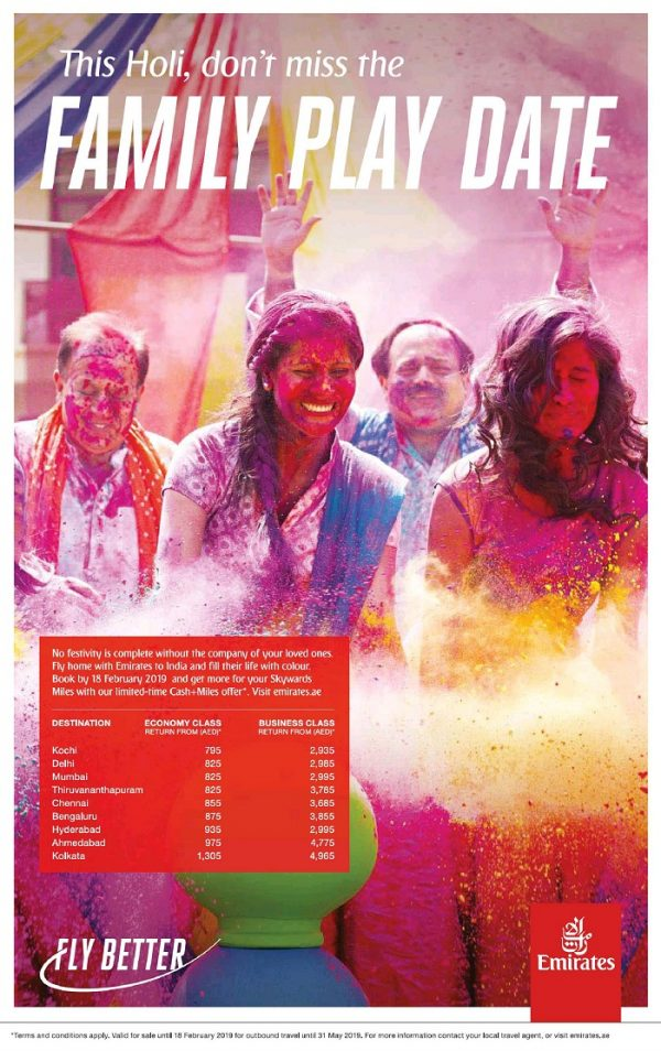 Emirates Airlines Special Fare offers to India - Dubaisavers