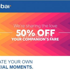 50% OFF Companion Fare on FlyDubai - Dubaisavers