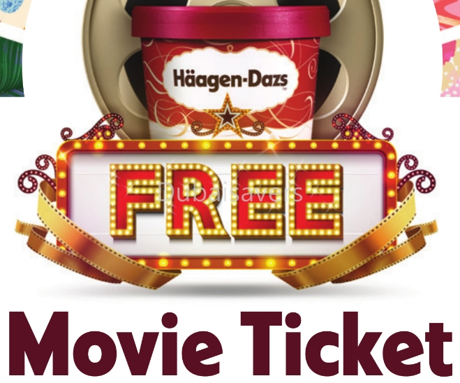Haagen-Dazs Free Movie Ticket Promotion - Dubaisavers