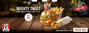 KFC Mighty Twist offer - Dubaisavers