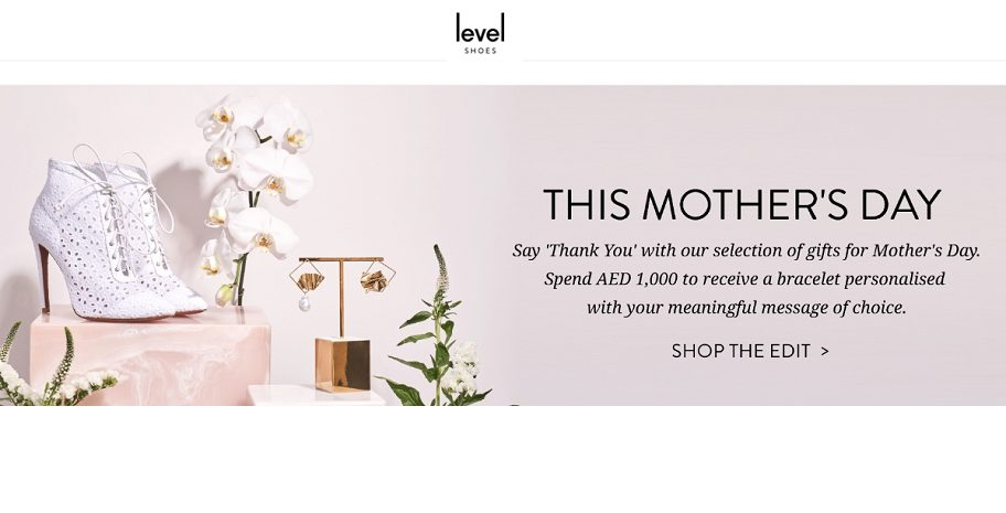 Level Shoes Mother's day offer - Dubaisavers