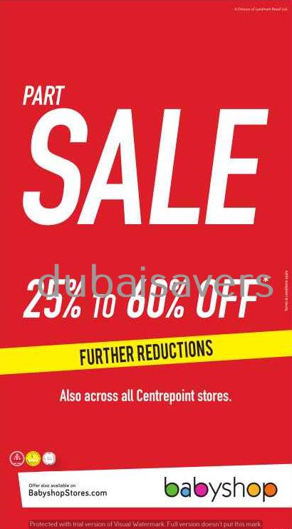 Further Reductions at Babyshop Sale - Dubaisavers