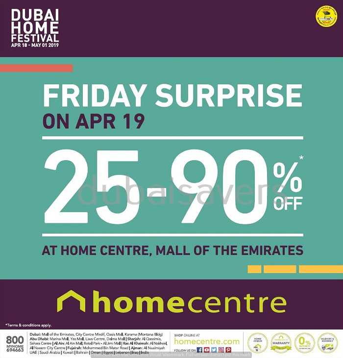 Home Centre Friday Surprise - Dubaisavers