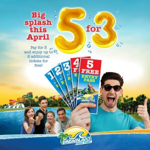 Dreamland Aqua Park Buy 3 Get 2 FREE offer! - Dubaisavers