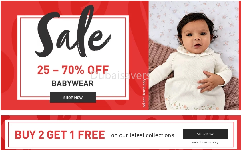Up to 70% Sale at Mamas & Papas with Buy 2 Get 1 FREE offers! - Dubaisavers