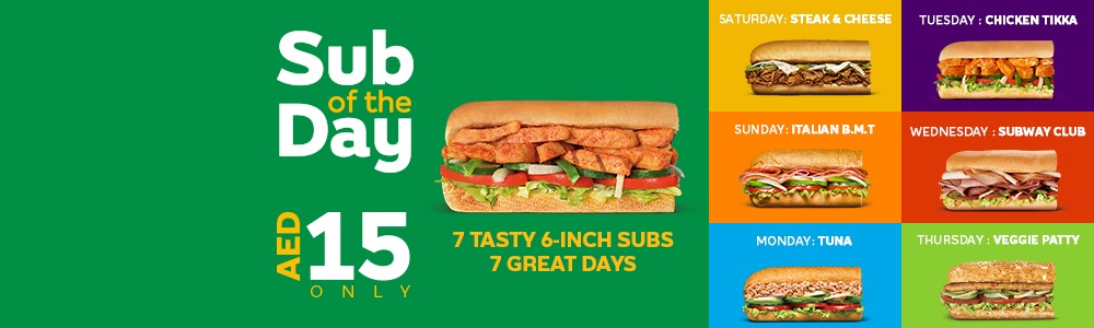 Today's Exclusive offer from Subway - Dubaisavers