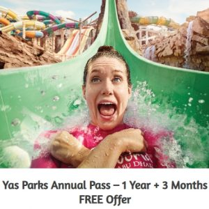 Yas Parks Annual Pass – 1 Year + 3 Months FREE Offer - Dubaisavers