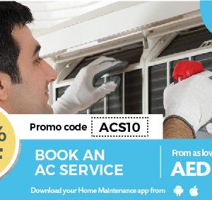 10% Off On AC Services - Dubaisavers