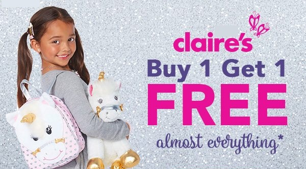Claire's Buy 1 Get 1 Free offer - Dubaisavers
