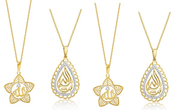 Pure Gold Jewellers launches Arabic calligraphy diamond pendants for Eid - Dubaisavers