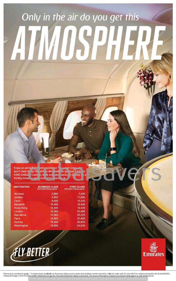 Emirates Airlines Special Promotion - Dubaisavers