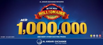 Be the next Millionaire with Al Ansari Exchange Summer Promotion 2019 - Dubaisavers