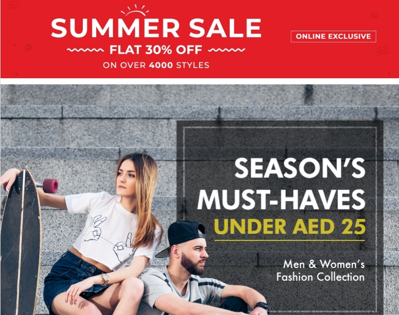 Fashion under AED 25 at the Brands for Less Summer Sale - Dubaisavers