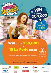 Oasis Mall Back to School Promotion - Dubaisavers
