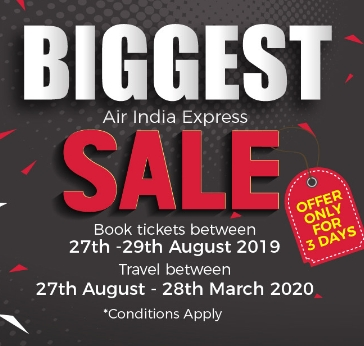 Air India Express launches 3 days only Mega Sale - Dubaisavers