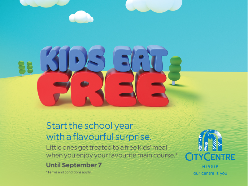 Kids Eat Free at City Centre Mirdif - Dubaisavers