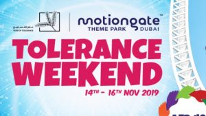 Motiongate Year of Tolerance Weekend offer for just AED 49! - Dubaisavers