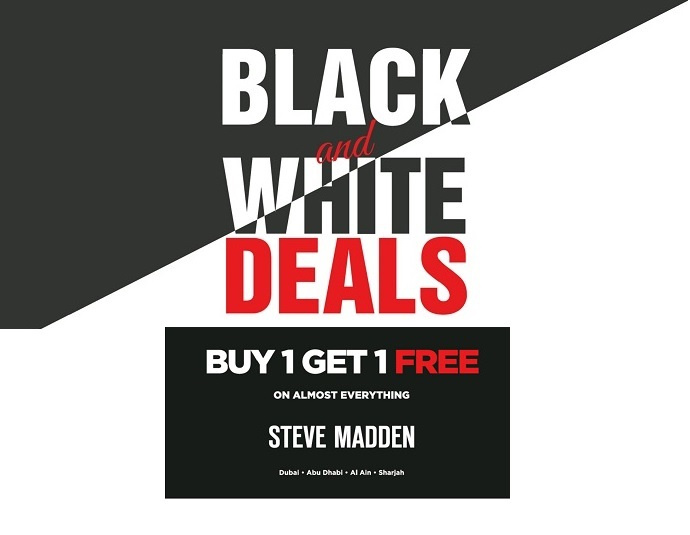 Steve Madden Black & White deals - Dubaisavers