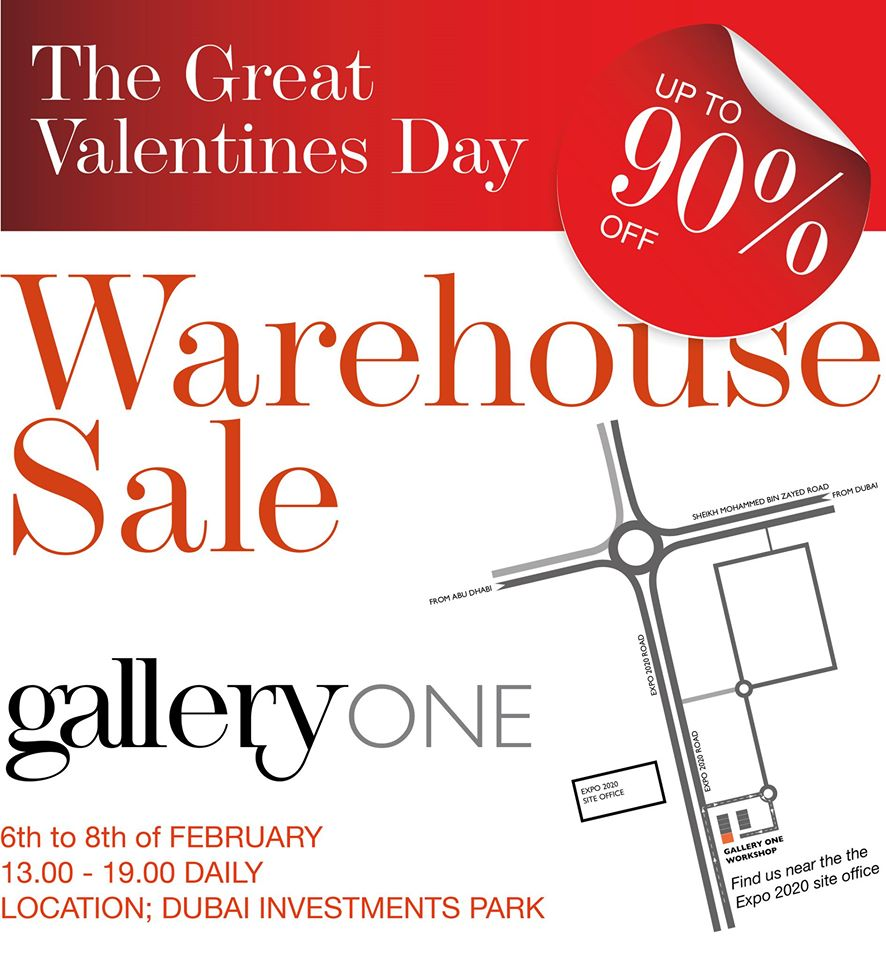 Gallery One Warehouse Sale - Dubaisavers