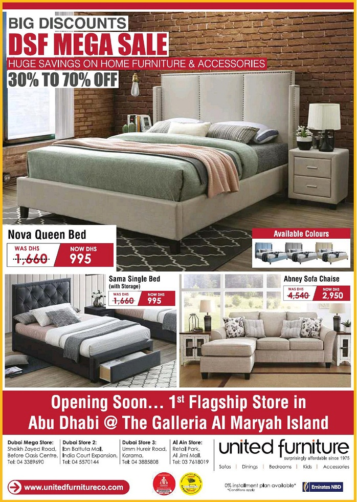 United Furniture DSF Mega Sale - Dubaisavers