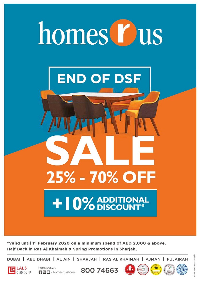 Homes r Us End of DSF Sale - Dubaisavers