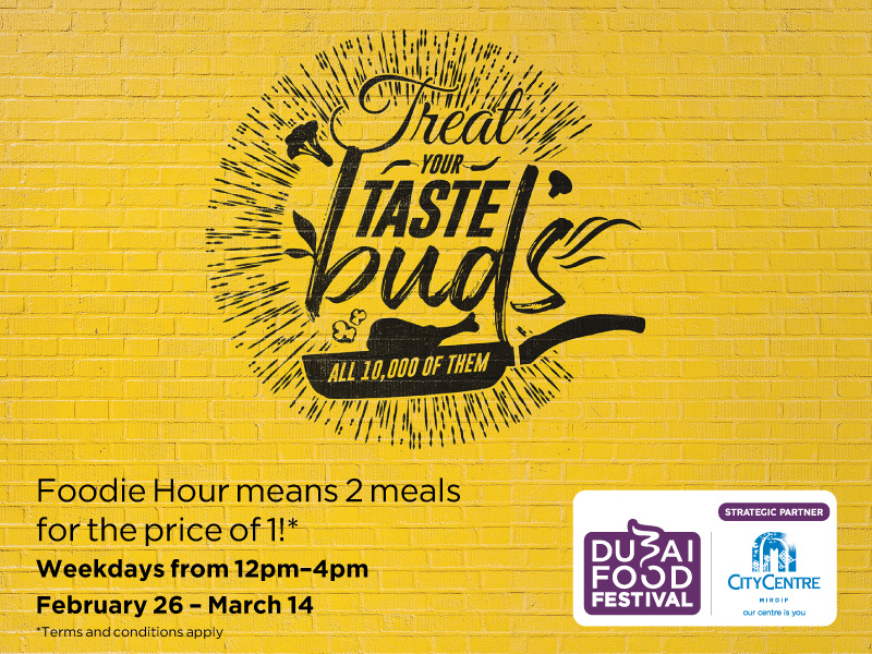 Eat Twice for the Price of One at City Centre Mirdif - Dubaisavers