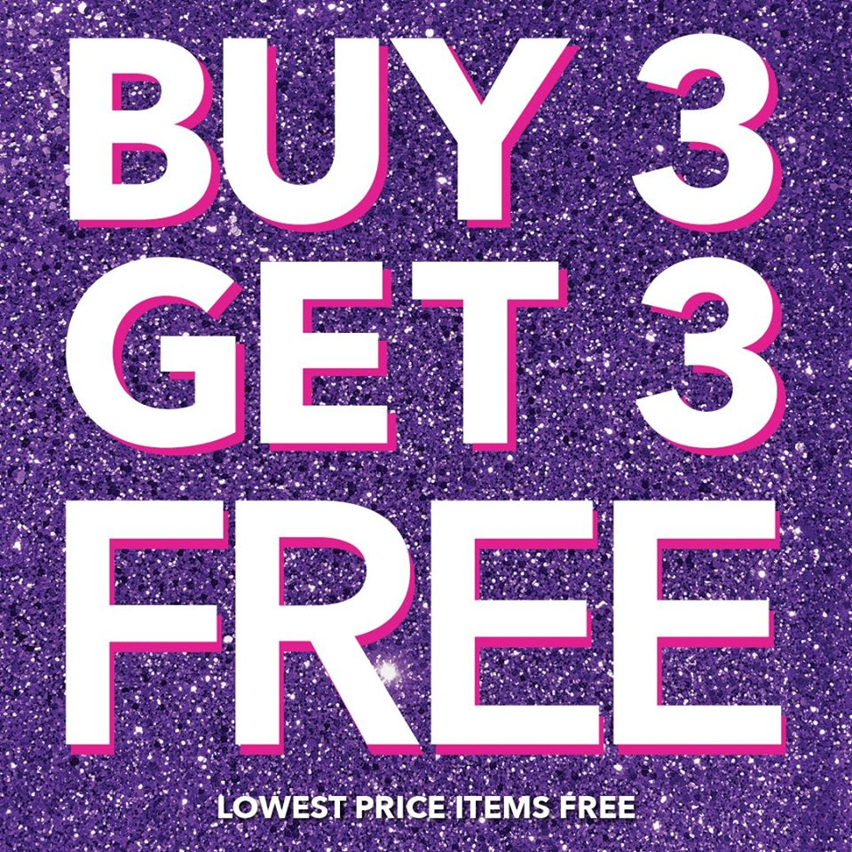 Claire's Buy 3 Get 3 Free offer - Dubaisavers