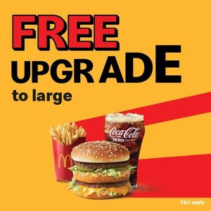 McDonald's FREE Upgrade offer - Dubaisavers