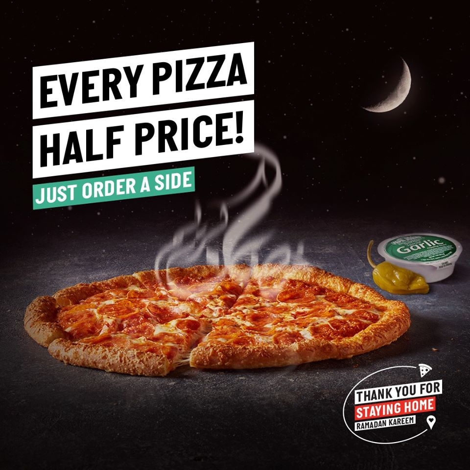 Papa John's Ramadan offer - Dubaisavers