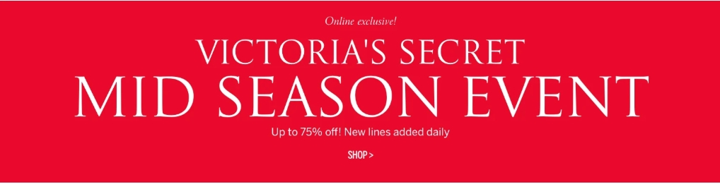 Victoria's Secret Mid Season Event-Online Exclusive - Dubaisavers