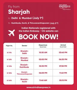 Air India Express Tickets open for Sale - Dubaisavers