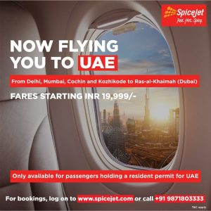 SpiceJet to operate flights to UAE from Four Indian Cities - Dubaisavers
